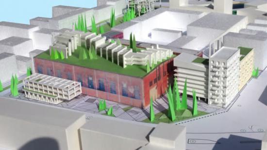 Modell och illustrationsplan över projektet.