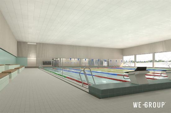 De kommer även finnas två 25-metersbassänger för motionsbad.