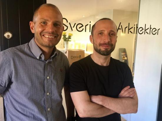 Anders Regnell och Fatih Okan.