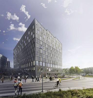 Cirka 470 miljoner kronor får Fabege betala för hotellet som Skanska byggeri Solna.