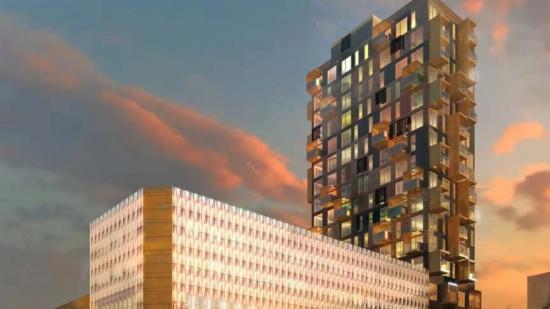 Rekord i antal våningar när Smidmek levererar Stommen till Helsingborgs nya landmärke.