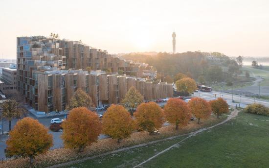 79&Park är ett flerbostadshus och en av finalisterna till Årets Stockholmsbyggnad.