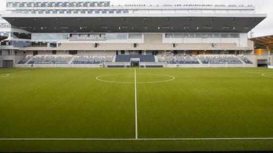 Uppsalas nya fotbollsarena.