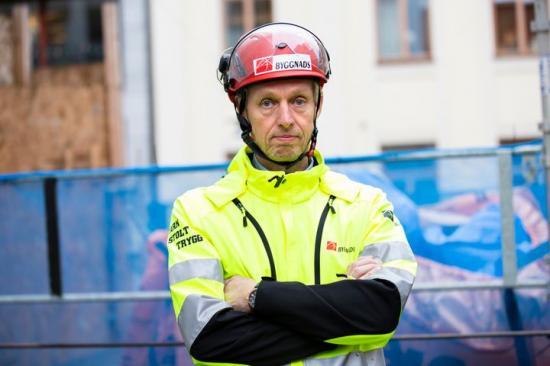 Torbjörn Hagelin avtalssekreterare Byggnads.