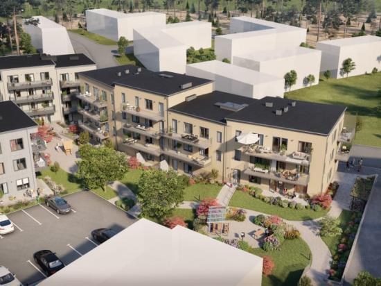 Brf Vega Avenue i Haninge är OBOS Kärnhems elfte etapp i Vega (bilden är en illustration).