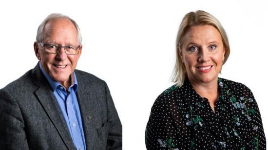 Ordförande HSB Värmland Tore Olsson och tillträdande Vd Jessika Lundgren.