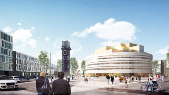 Nu står Kristallen färdig i Kirunas nya stadskärna.