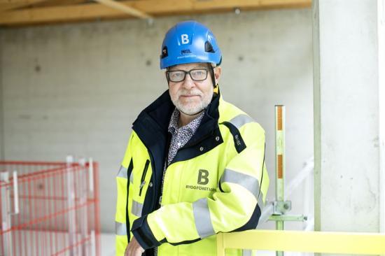 Berndt Jonsson, nationell samordnare av arbetsmiljöfrågor vid Byggföretagen och ledamot i Säkerhetsparkens styrelse.