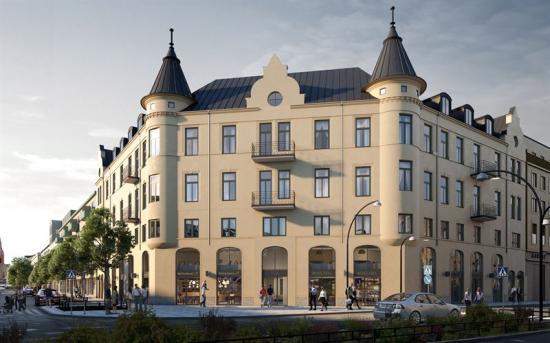 Kvarteret Hållstugan i centrala Örebro ska fräschas upp (bilden är en illustration).