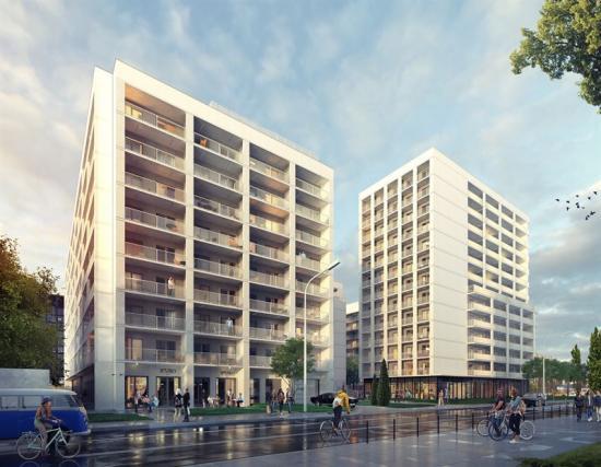 Smartti Mokotów 1 och 2 i Warszawa, en del av NREPs första bostadsinvestering i Polen (bilden är en illustration).