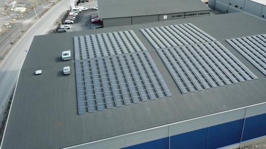 Befintlig solcellsanläggning i Haninge som har producerat el under två år