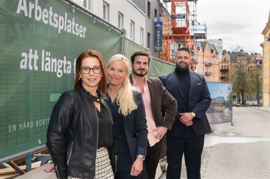 I bild från vänster till höger: Camilla Ejeskog: Castellum, Joanna Forsberg: Princess Hotell, Johannes Solmanson: Butlers och Christian Pusunc: Sushi Nara.
