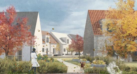 Så här skulle det nya bostadsområdet kunna se ut.