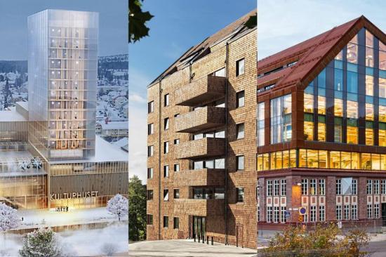 Sara kulturhus, Strandparken och Trikåfabriken är goda exempel på svensk träarkitektur som visas under Archtober.