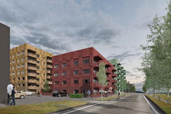 Illustration av kvarteret Kräftan, avChristel Elvsgård-Ekman/GisteråSjöstrand Arkitekter.