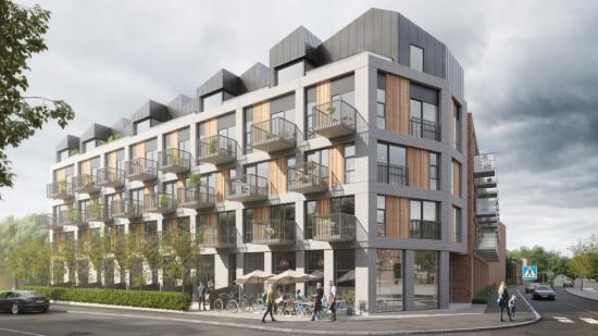 Bygget av Brf ØF19 i Malmö kommer att påbörjas inom kort (bilden är en illustration).