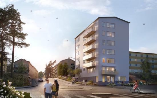 37 nyproducerade hyreslägenheter står nu klara i Traneberg.