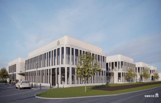 Den nya polisstationen planeras bli en av landets modernaste.