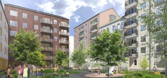 Midroc säljer två bostadsprojekt i Uppsala till K2A.