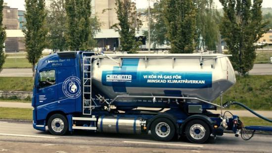 Cementa kör på gas för minskad klimatpåverkan.