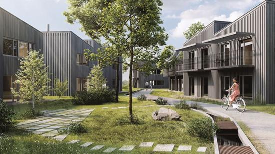 Visionsbild över projektetGötarps hage (bilden är en illustration).