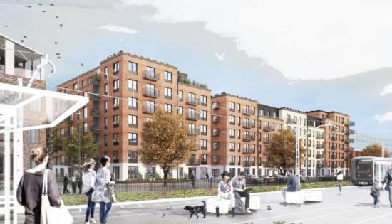 46 arkitektkontor från Sverige, Norge, Danmark och Tyskland tävlade om att få gestalta det framträdande bostadskvarteret i Stationsstaden i Kävlinge. Endast tre fick chansen, däribland BSK Malmö som satsade på kärnvärdena trygghet och gemenskap.