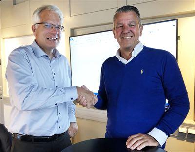 Lars Täuber, divisionschef för Bravidas division Stockholm och Torbjörn Wastesson, vd för AB Venair.