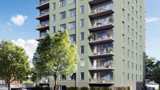 Flerfamiljsfastighet i Åstorp (bilden är en illustration).