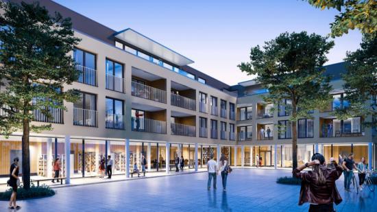 Visionsbild över trygghetsboendet som ska byggas i Svenstavik.