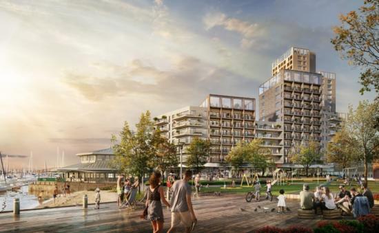 Med det nya kvarteret får Stenungsund centrum en ny silhuett och en tydlig entré till Stenungsund centrum.