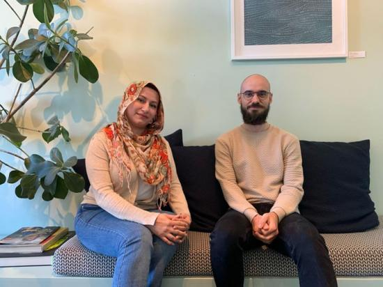 Dunya Jawad och Matija Jurse på MER Arkitekter.