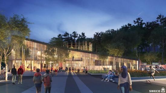 Kulturhusetisom ska byggas iBergsjön (bilden är en illustration).