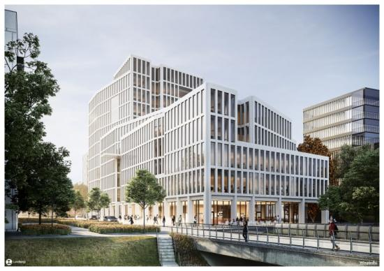 Lundbergs bygger ny kontorsfastighet i Linköping.