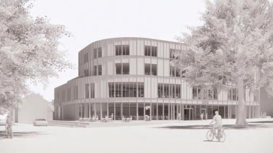 Den nya mötesplatsen kommer bland annat att ge plats för stadsbibliotek, konsthall, hörsal, café, bio och ytor för kreativt skapande och studier.