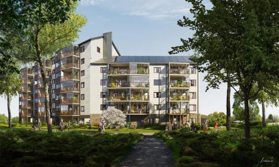 """Fem av de 54 bostadsrätterna i Brf Korseberg Fjärd kommer att kunna """"Hyrköpas"""" av unga vuxna upp till 35 år(bilden är en illustration)."""