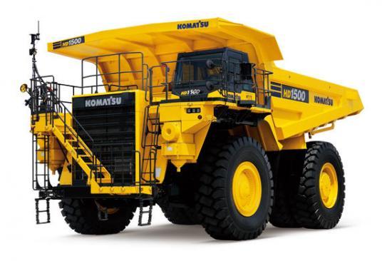 Komatsus nya 142 tons tipptruck, är den första CE-certifierade HD1500-modellen