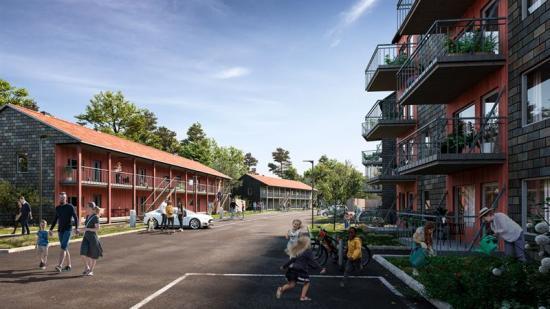 Norra Vitsippan i Salem blir ett netto noll-energiprojekt (bilden är en illustration).