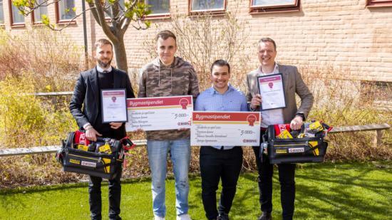 Från vänster: Tobias Danielsson, Edvin Blomgren, Marcus Carvalho Görnebrand & Tobias Klintberg.