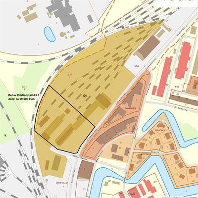 Kristianstad område vid Centralstationen.