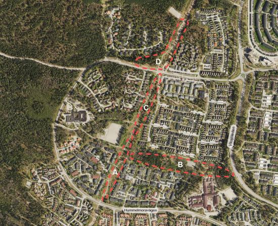Viksjö, intill Görvälns naturreservat, utvecklas med fler småhus i fyra delområden.