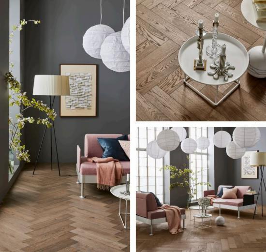 Segno Ek Blonde är svagt vitpigmenterad och tack vare träets livfullhet får golvet en tydlig karaktär. Golvet passar ypperligt bra i miljöer som eftersträvar en avskalad och elegant stil åt det skandinaviska hållet.