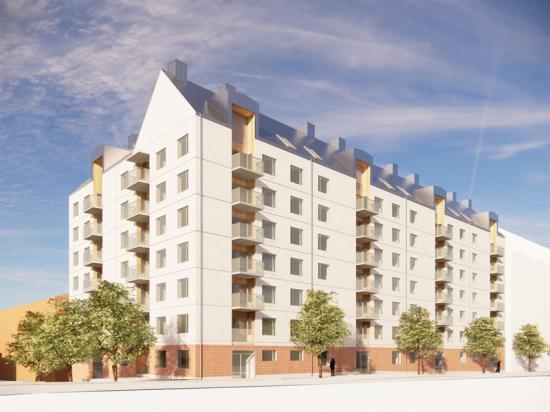 Victoria Park bygger 92 hyreslägenheter i Kållered, Mölndal (bilden är en illustration).