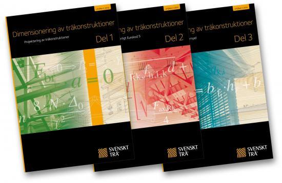 Publikationerna Dimensionering av träkonstruktioner Del 1–3.