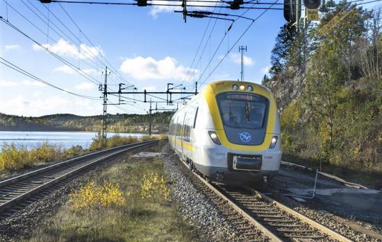 Regiontåg i Västra Götaland.