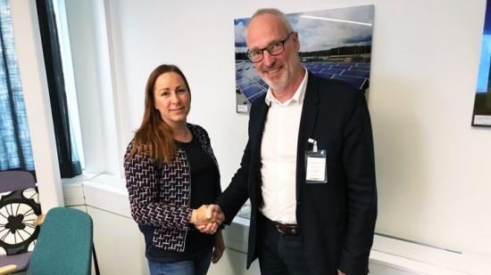 Emelie Persson, Inköpare Specialfastigheter och WSPs operativa chef Mickey Johansson.