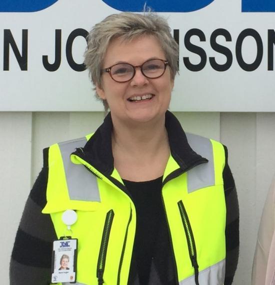 Maria Vogler, KMA-ansvarig, Sven Johansson Bygg i Dals Ed, uppskattar upplägget i Povel.
