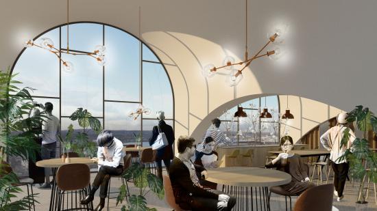 Visionsbild över nya Mountbatten House (bilden är en illustration).