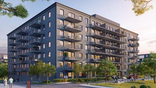 Så här OBOS nya fastighet i Mölndal se ut (bilden är en illustration).