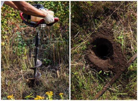 För att mäta radonhalten placeras Radonovas nya detektor 85 cm ner i marken.