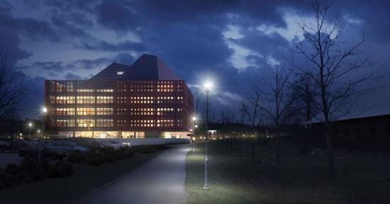 Visionsbild över studenthuset i Linköping (bilden är en illustration).